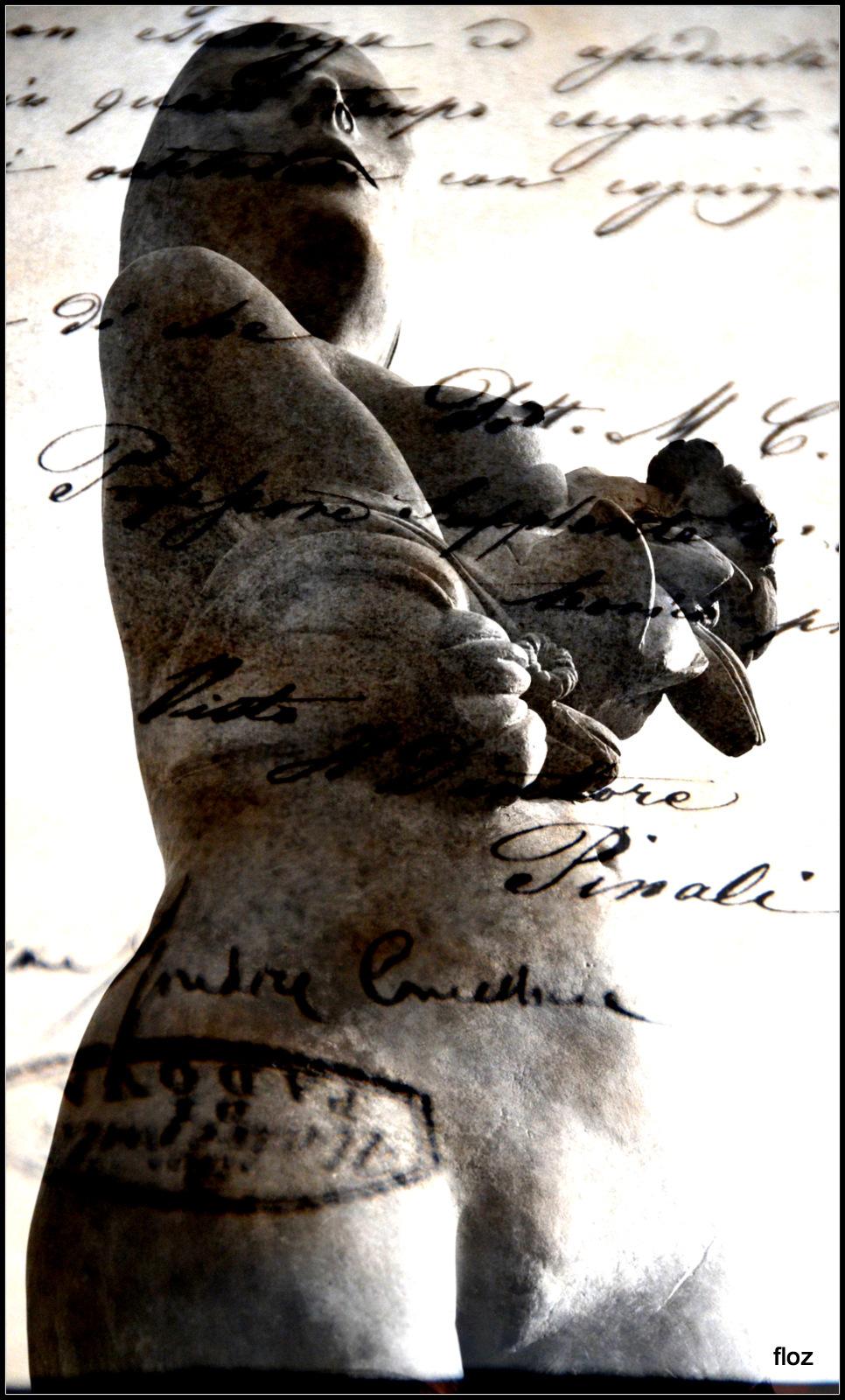 écrire sur les statues