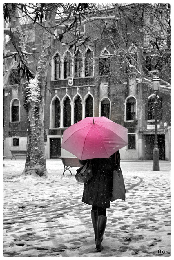 a Venezia nevica