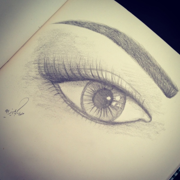 نقاشي چشم