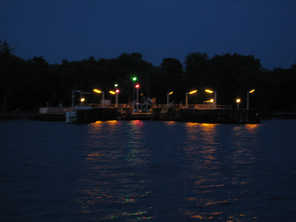 Lights on Ferry Dock