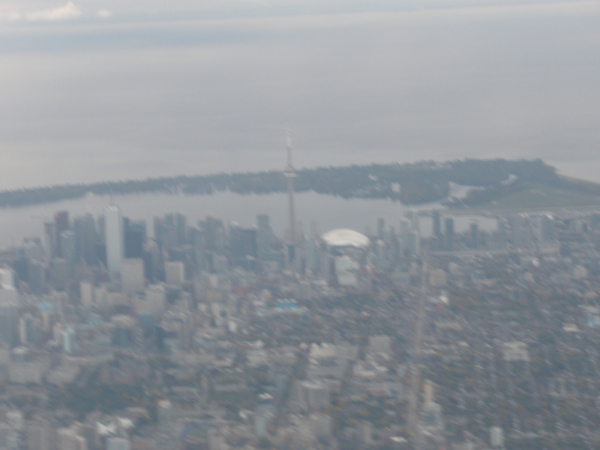 CN Tower from Airplane