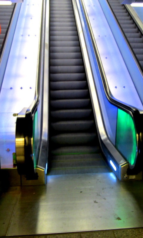escalator take me to ...