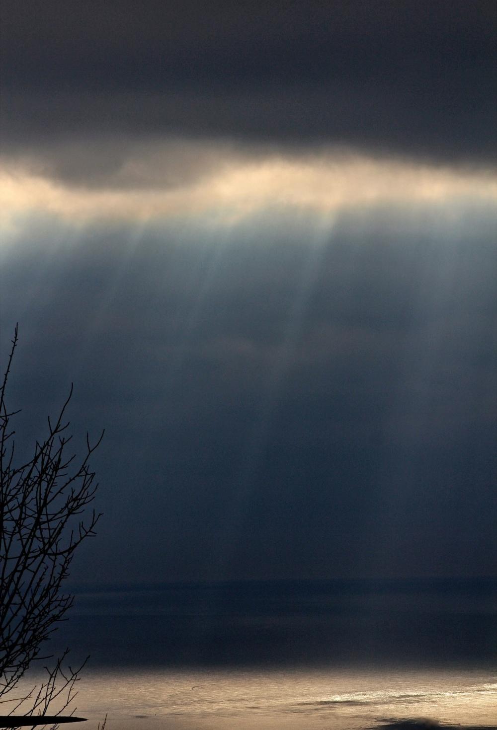 Ciel de Baie des Anges de Noël.