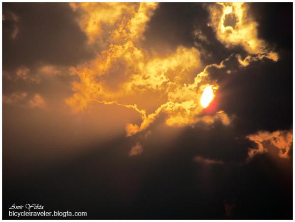 Sunset ,Shif Island near Busher, Iran