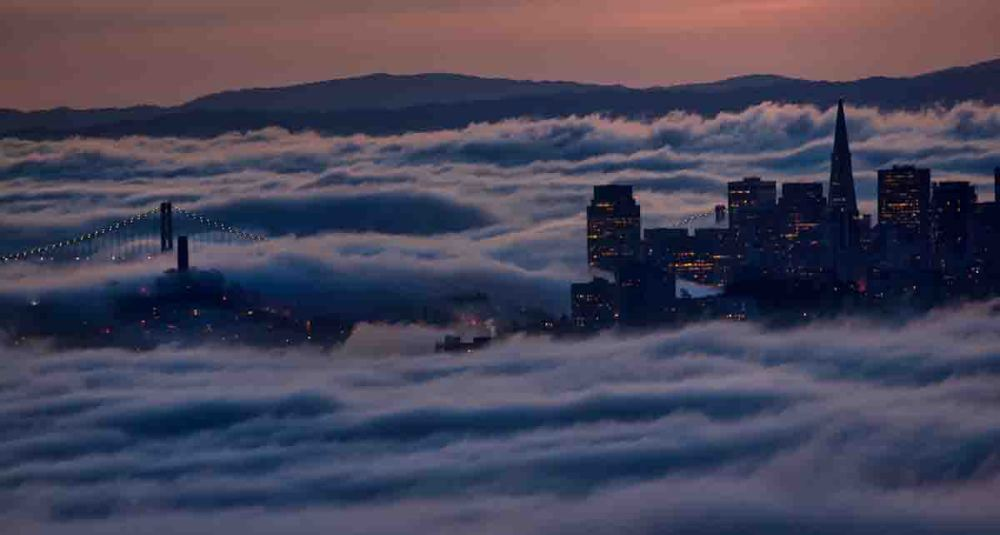 Early morning fog in San Francisco