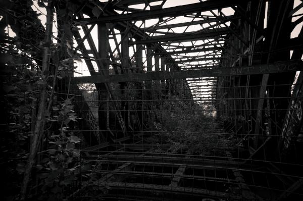 Eisenbrücke, Gesundbrünnen, Berlin, Wedding, B&W