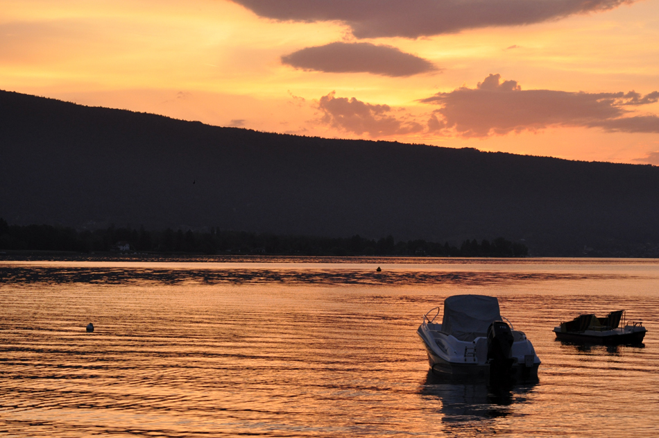 Sur le lac d'Annecy