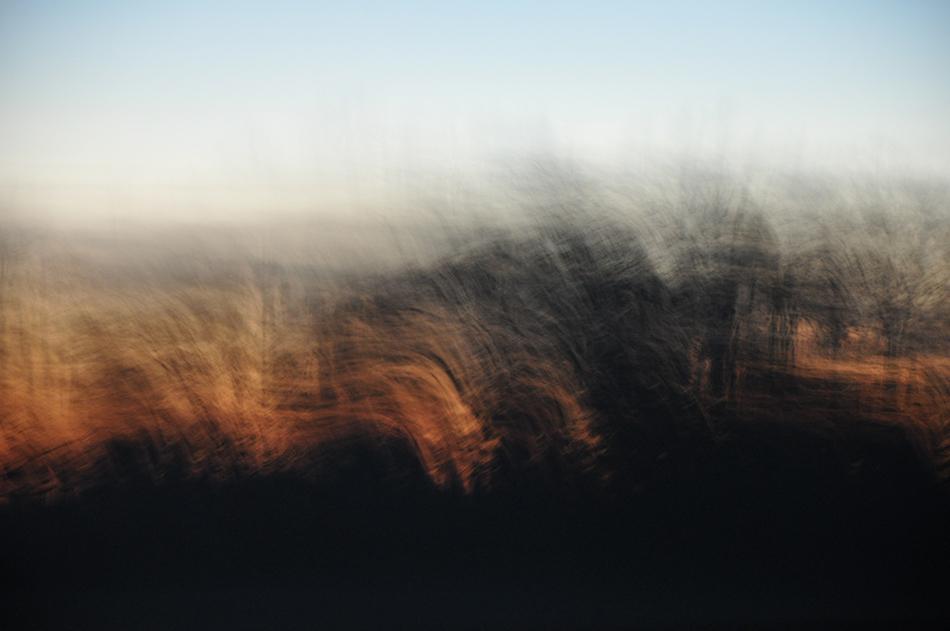 Sur la route ..... coucher de soleil