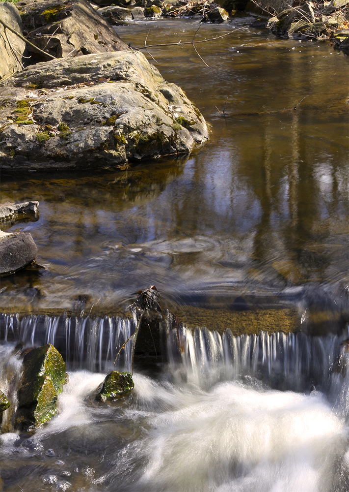 Une toute petite cascade sur la rivière Yamaska.