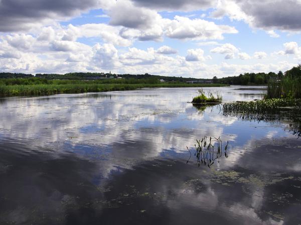 fin d'après-midi au lac Boivin à Granby.