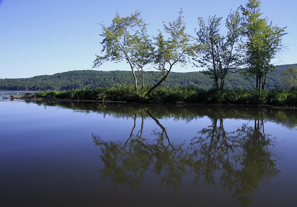 matin calme sur le lac