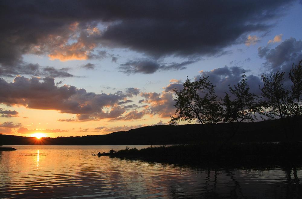 couchet de soleil au lac Massawipi