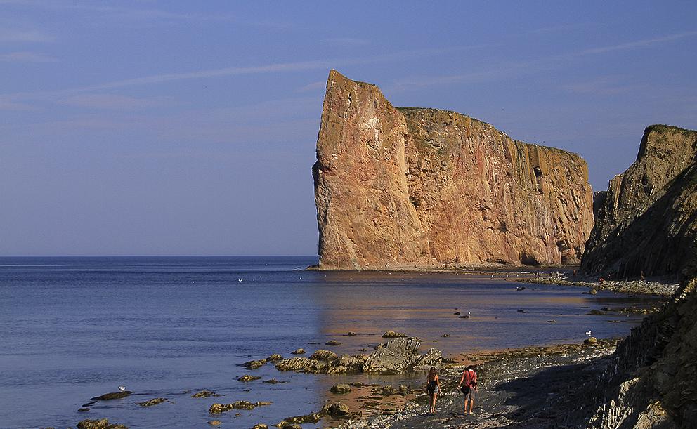 promenade,rocher-Percé,mer,Gaspésie