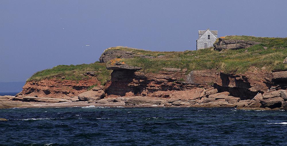 maison abandonnée sur l'île Bonaventure
