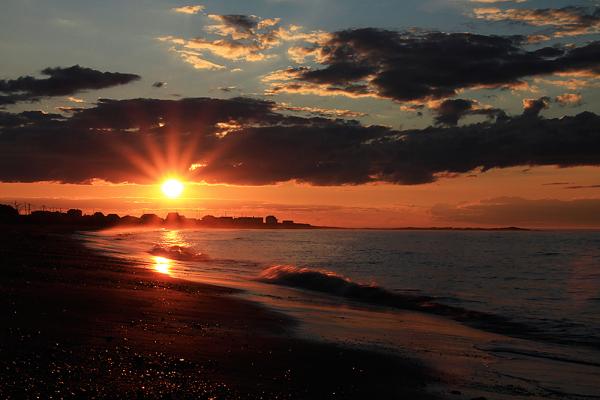 coucher de soleil à Sainte-Anne-des-Monts