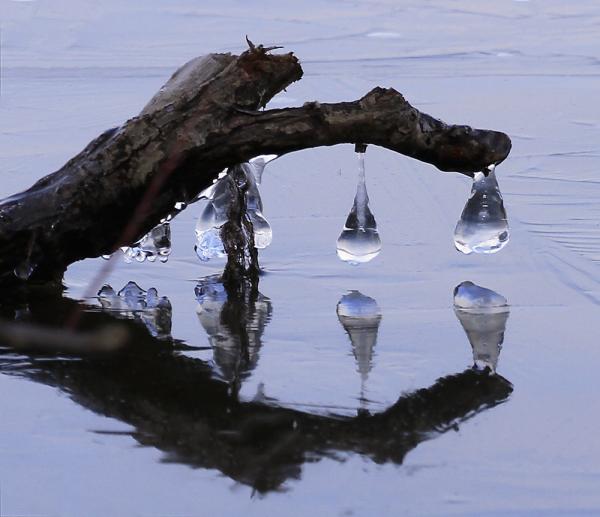 glaçons sur le lac