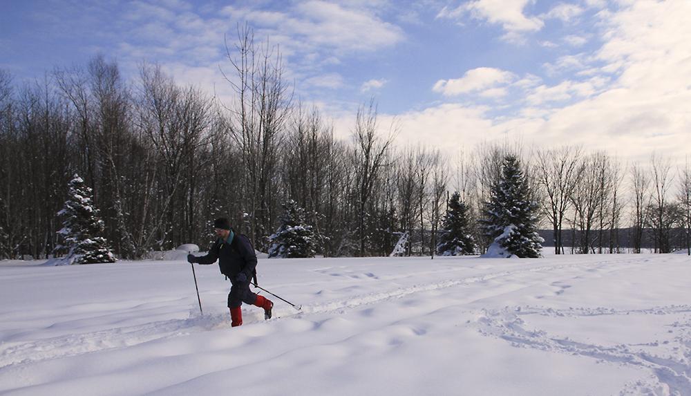 skieur au parc Yamaska
