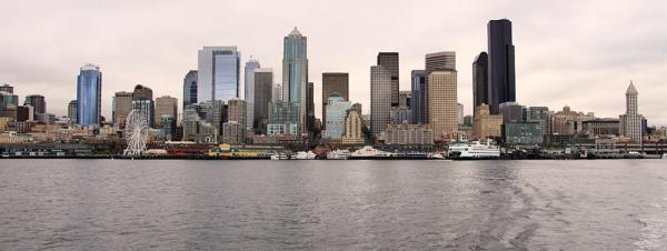 Seattle vue du traversier
