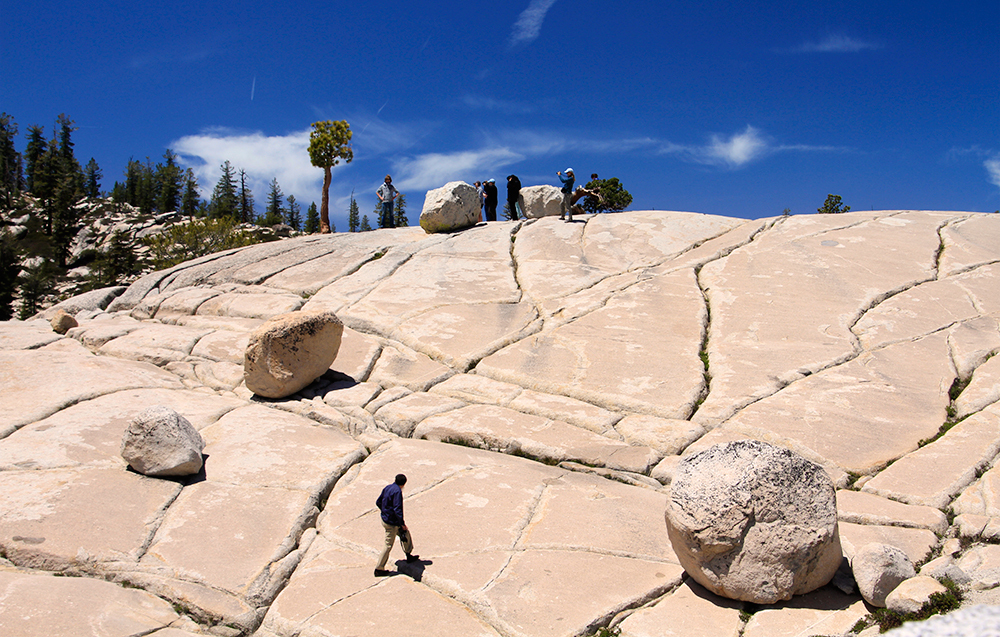 tourists on rocks at Olmsted Point