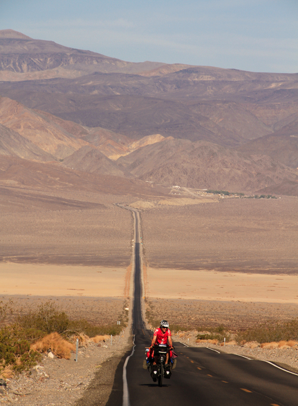 cyclo-voyageur en action