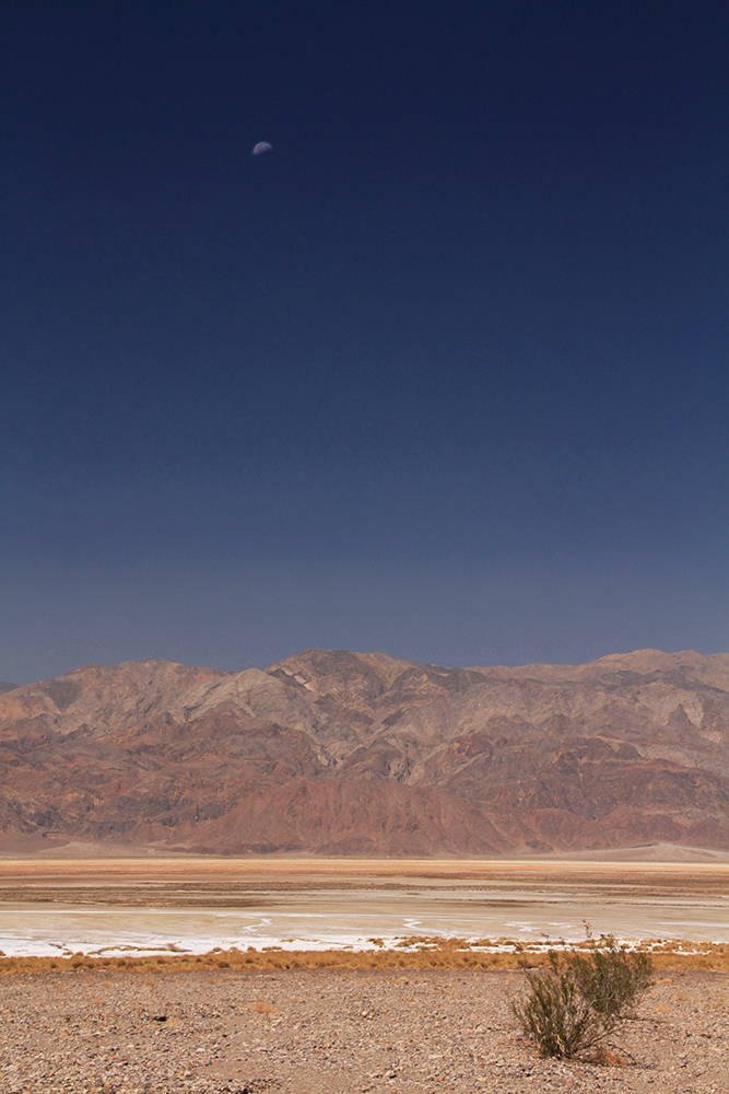 lune sur Death Valley