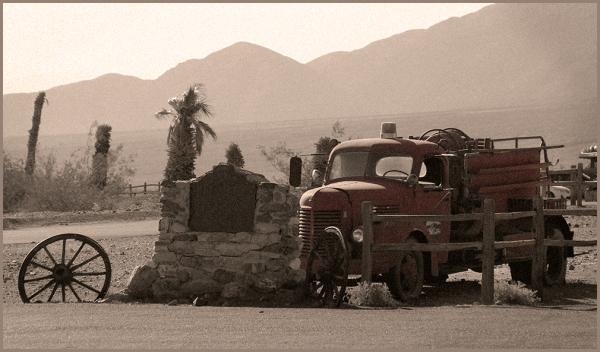 vieux camion de pompiers