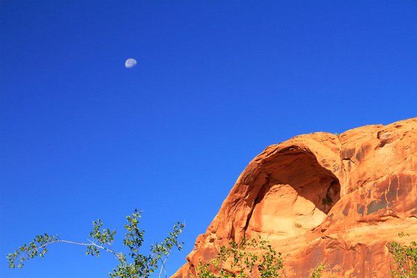 moon and rocks