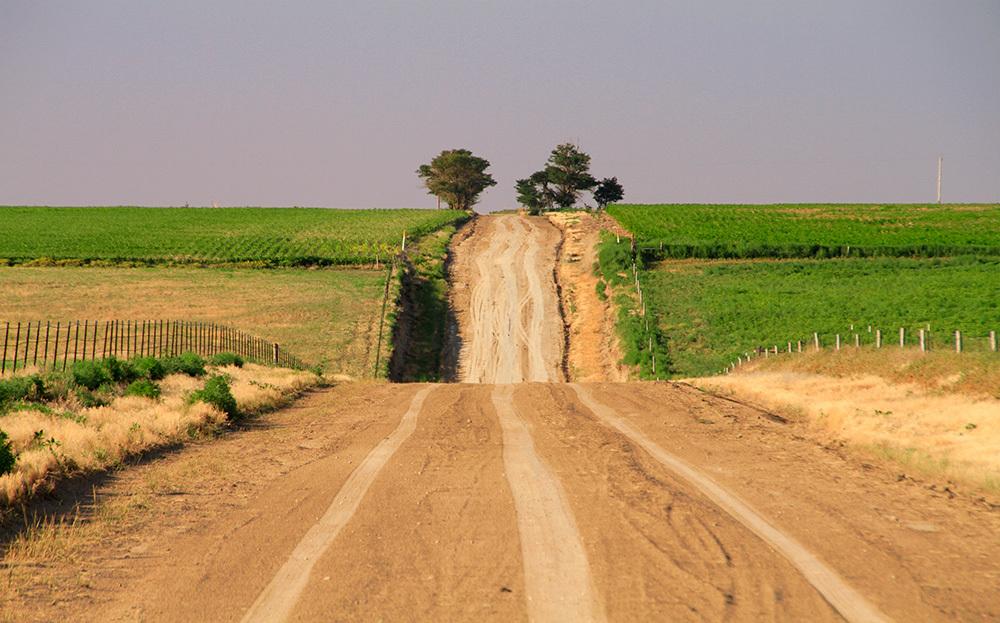 dirt road in Kansas
