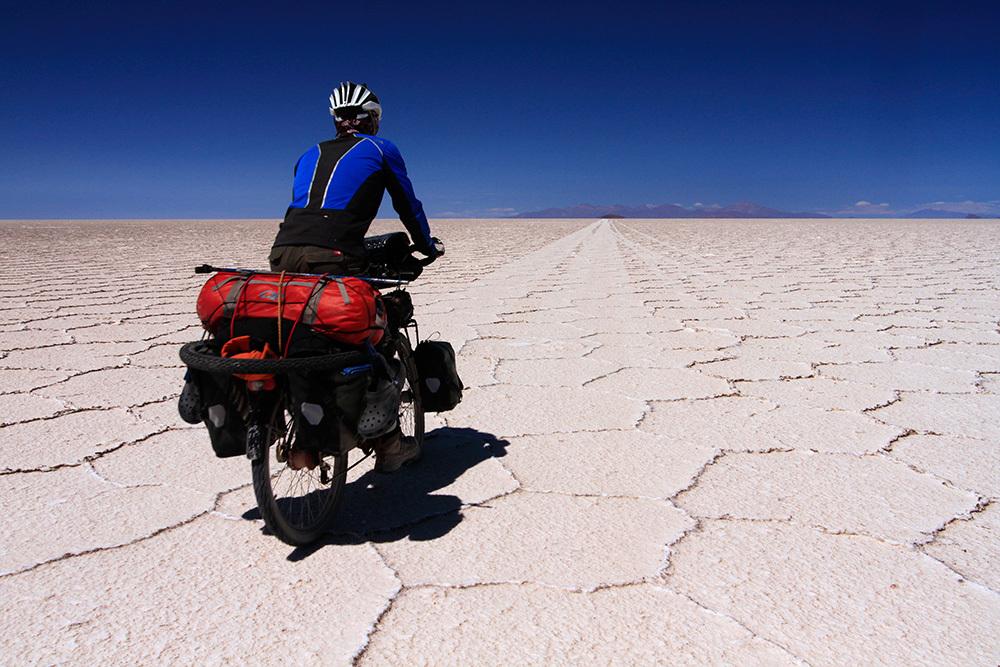 À vélo sur le Salar de Uyuni