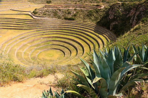 Incas site of Moray in the Sacred Valley