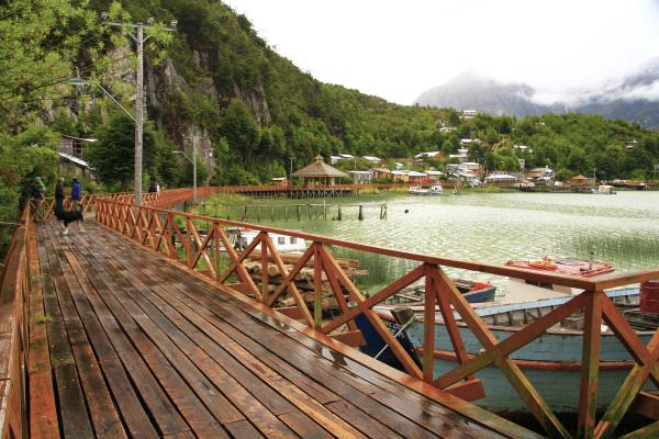 Wooden walkway in Caleta Tortel