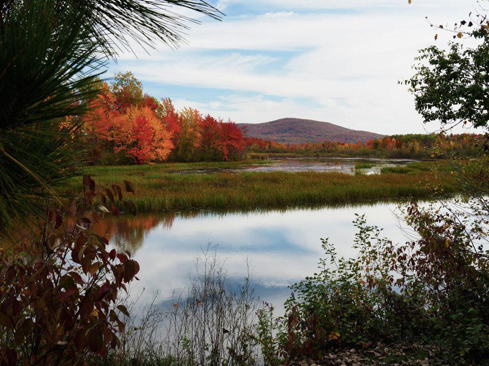 Le lac Bovin et le mont Shefford