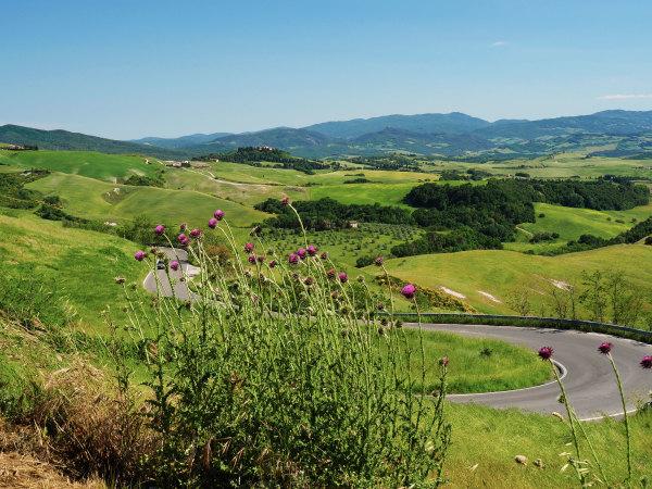 Route vers Volterra.