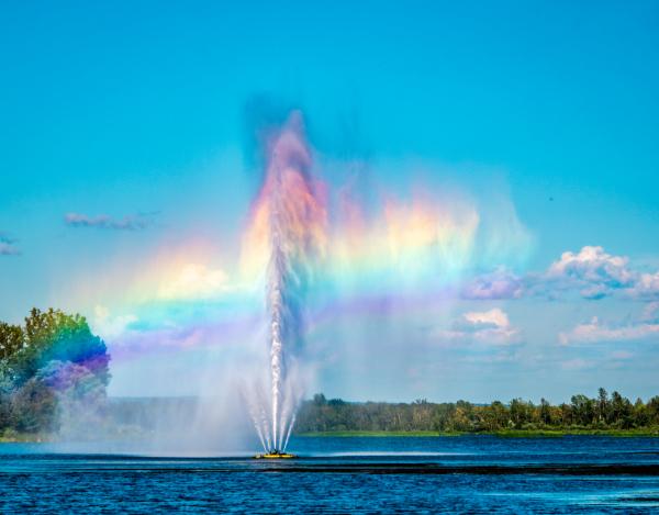 Arc-en-ciel au lac Boivin