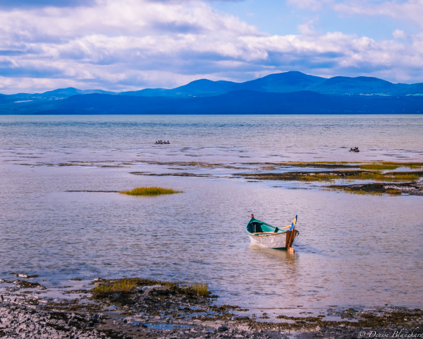 Tout petit bateau sur le Saint-Laurent