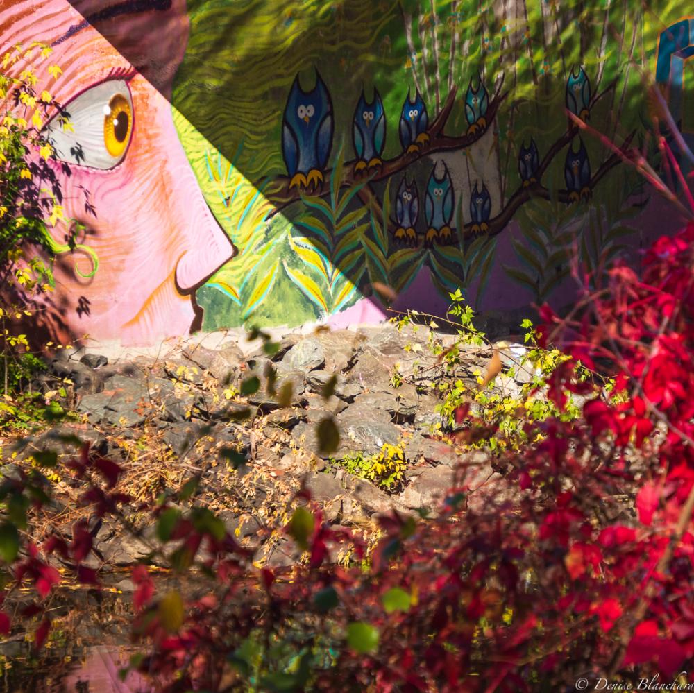 Murale sous un pont