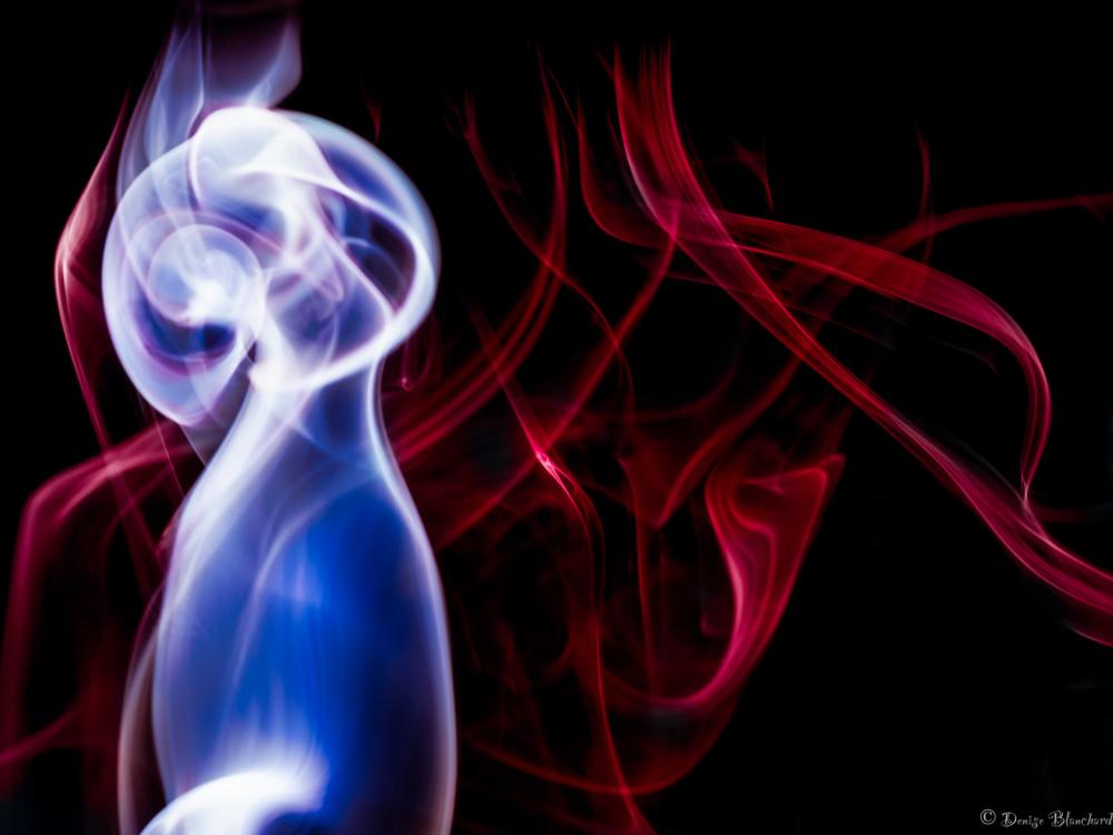 Smoke photography, abstract.