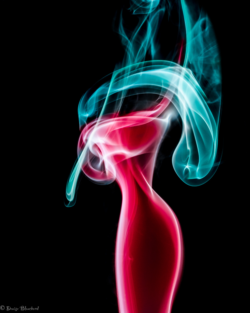 Smoke photography, abstract.