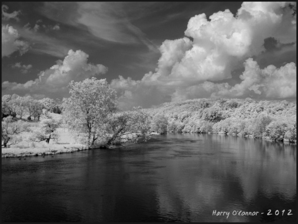 infrared landscape view of the new river in virgin
