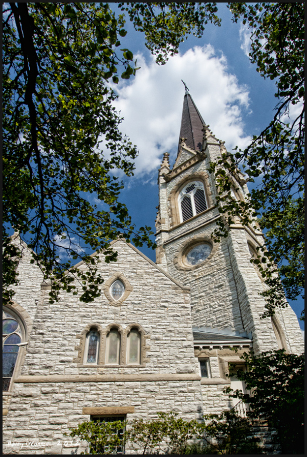 Westwood Methodist church steeple