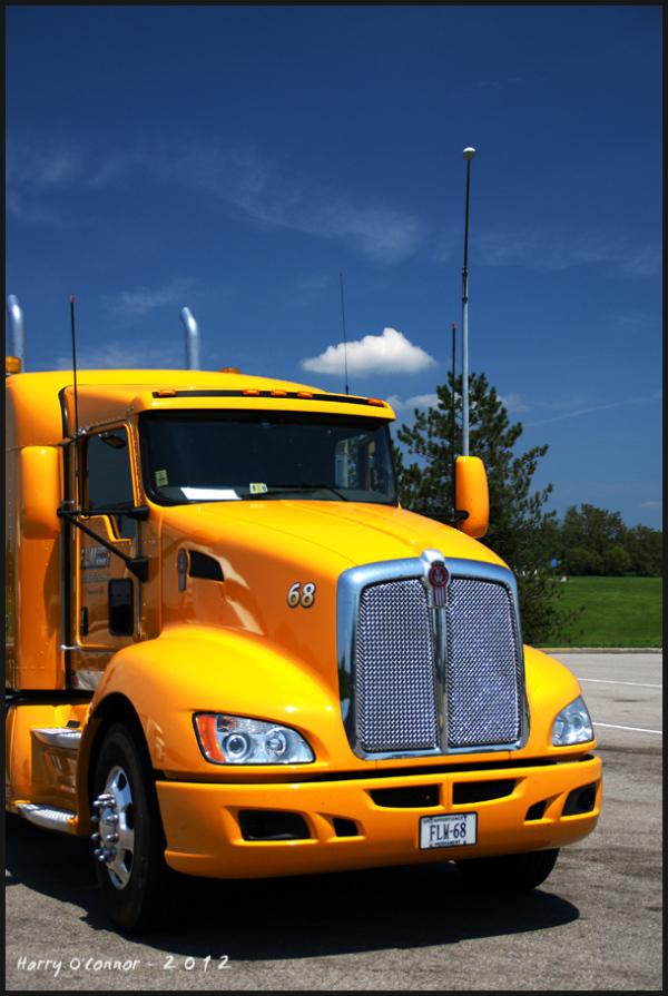 Yellow Kenwort truck