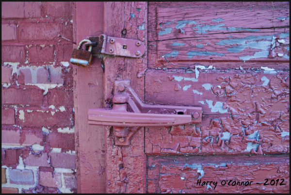 Red latch and lock