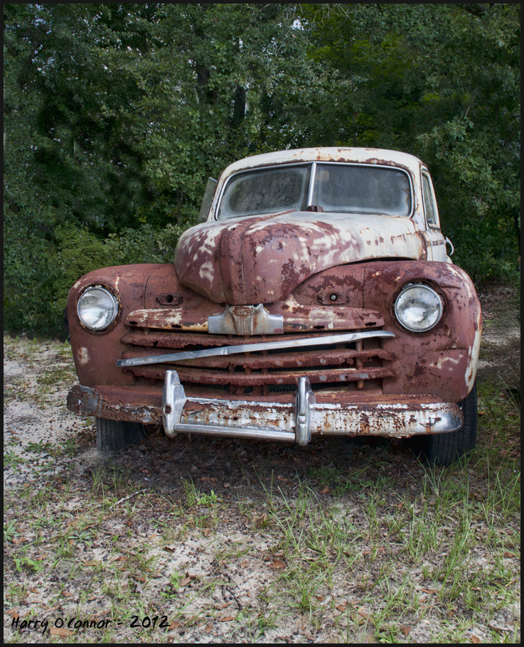 A rusty Ford at Danny
