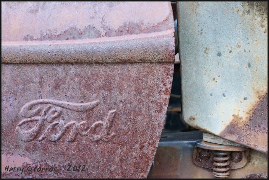 Ford Logo in rust