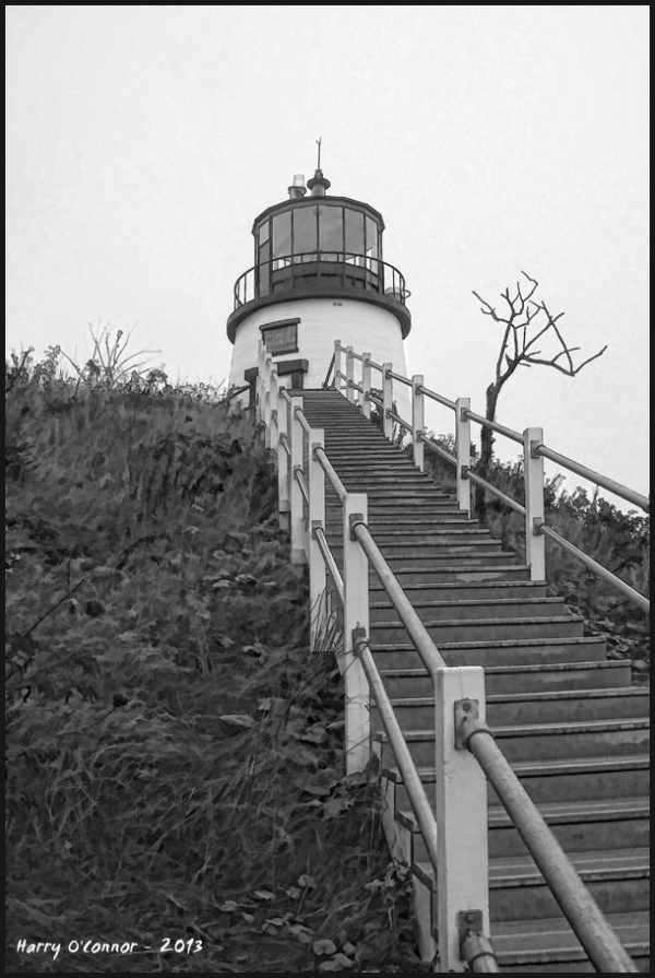 Stairs to Owl's Head Lighthouse