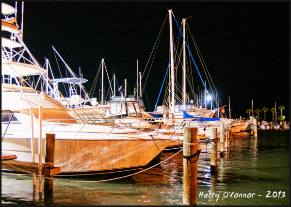 Marina after dark