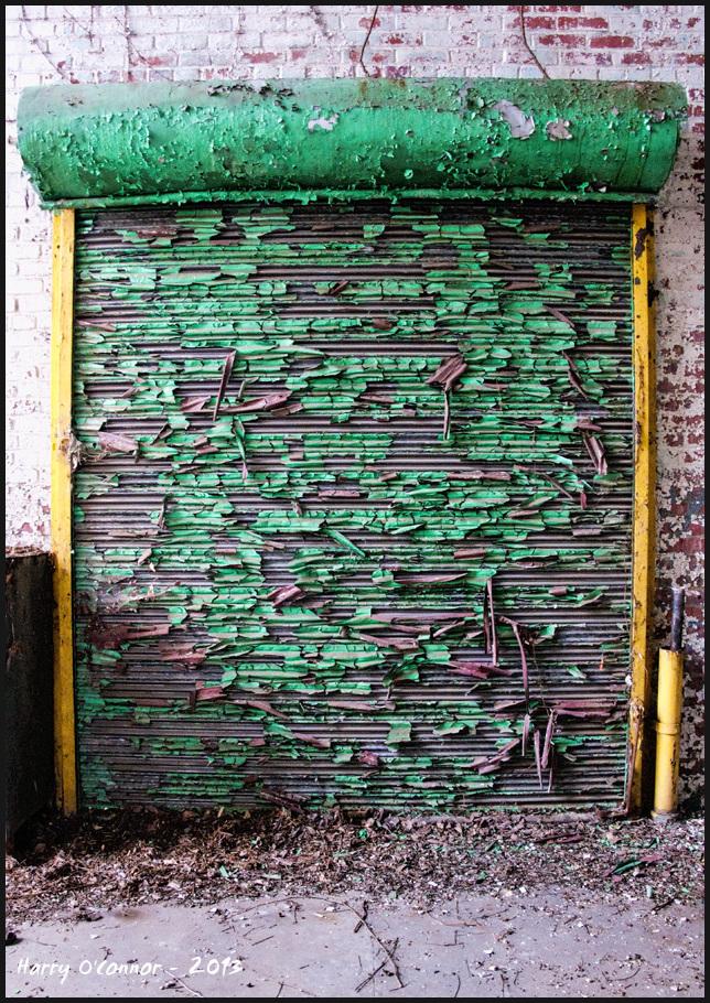 Peeling roll-up door