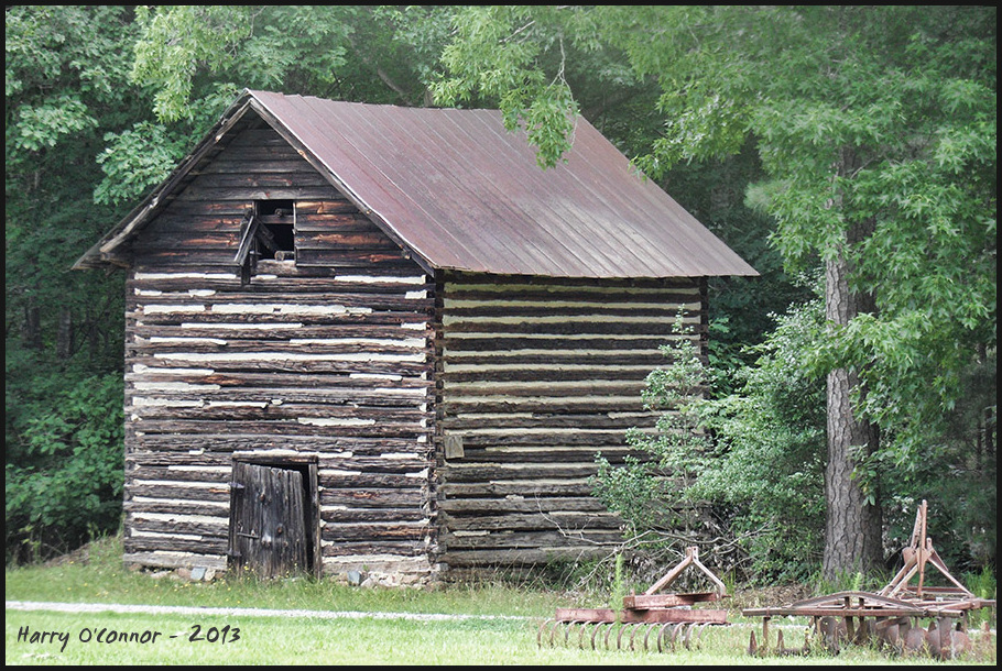 Tobacco barn and implements