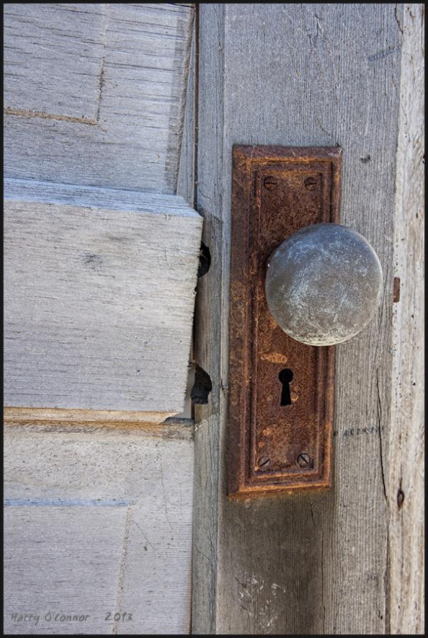 Rusty doorplate