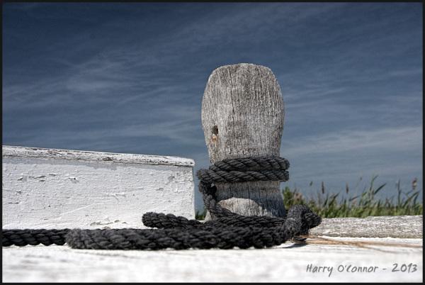 Black rope, blue sky